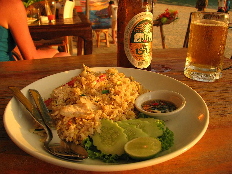 Sunset-Dinner, Thai fried rice