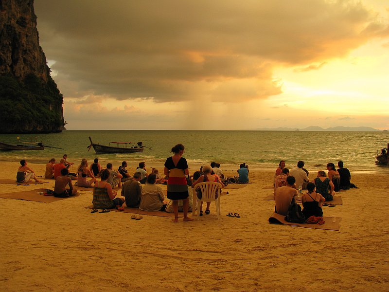 Der Sonnenuntergang, Railay West Beach